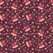 Vector de stock : Valentine seamless hearts pattern