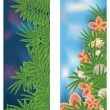 Two tropical banners, vector illustration — Stock Vector