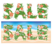Summer tropical sale banners. vector illustration — Stock Vector
