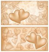 Love huwelijk banners, vector illustratie — Stockvector