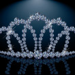 Pretty diamond princess diadem, vector illustration — Stock Vector