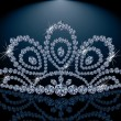Diamond Diadem feminine wedding , vector illustration - Stock vektor