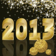 New Golden Year 2013, vector illustration — Stock Vector