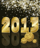 New Golden Year 2013, vector illustration — Cтоковый вектор