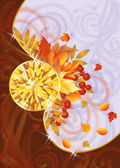 Autumn card with topaz, vector illustration — Stock Vector