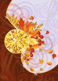 Cartão de outono com topázio, ilustração vetorial — Vetorial Stock