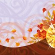 Autumn banner with topaz, vector illustration — Stock Vector