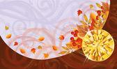 Autumn banner with topaz, vector illustration — Stock Vector