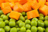 Peas and carrot mix — Stock Photo