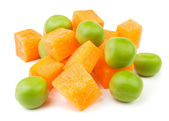 Carrots and peas — Stock Photo