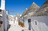 Alberobello's Trulli. Puglia. Italy. — Stok fotoğraf