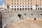 Rzymski amfiteatr. lecce. puglia. włochy. — Zdjęcie stockowe