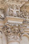 Santa Croce Basilica. Lecce. Puglia. Italy. — Fotografia Stock