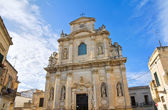 Church of Alcantarine. Lecce. Puglia. Italy. — Stock Photo