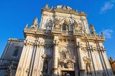 Basilica of St. Giovanni Battista. Lecce. Puglia. Italy. — Stock Photo