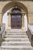 Wooden door. Otranto. Puglia. Italy. — Stock Photo