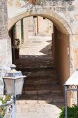 小巷。奥特朗托。普利亚大区。意大利. — 图库照片
