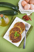 Zucchini omelettes. — Stock Photo