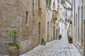 Alleyway. Martano. Puglia. Italy. — Stock Photo