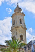 Belltower of Mother Church. Cavallino. Puglia. Italy. — Stock Photo