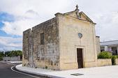 Chapel of St. Paolo. Acaya. Vernole. Puglia. Italy. — Stock Photo
