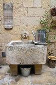 Washhouse with tools. — Stock Photo