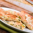 Focaccia with zucchini. — Stock Photo