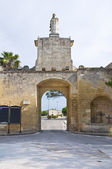 Gate of St. Oronzo. Acaya. Vernole. Puglia. Italy. — Stock Photo