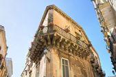ロッシの宮殿。レッチェ。プーリア州。イタリア. — ストック写真