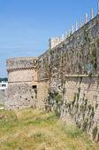 要塞的城墙。奥特朗托。普利亚大区。意大利. — 图库照片