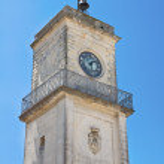 Clocktower. Martano. Puglia. Italy. — Stock Photo