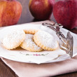 Stock Photo: Apple filled cookies.