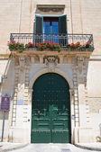 Scarpa palace. Martano. Puglia. Italy. — Stock Photo