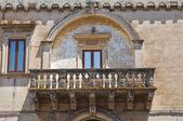 Andrichi-Moschettini palace. Martano. Puglia. Italy. — Stock Photo