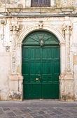 De Monti palace. Corigliano d'Otranto. Puglia. Italy. — Fotografia Stock