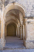 Arcade of St. Giorgio. Melpignano. Puglia. Italy. — Stock Photo