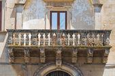 Palais d'andrichi-moschettini. martano. puglia. italie. — Photo