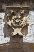 Carrozzini coat of arms. Soleto. Puglia. Italy. — Stock Photo