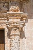 サン ・ ジョルジョの母教会。melpignano。プーリア州。イタリア. — ストック写真