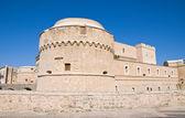 De monti slottet av corigliano d'otranto. Puglia. Italien. — Stockfoto