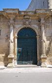 Moschettini palace. Martano. Puglia. Italy. — Stock Photo
