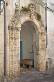 Historical palace. Corigliano d'Otranto. Puglia. Italy. — Stock Photo
