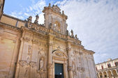 Cathedral of Lecce. Puglia. Italy. — Fotografia Stock