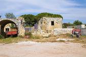 Klasztor Santa maria degli Angeli. Acaya. Puglia. Włochy. — Zdjęcie stockowe