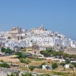 Panoramic view of Ostuni. Puglia. Italy. - Stock Photo
