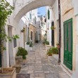 Alleyway. Ostuni. Puglia. Italy. - Stock Photo