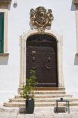 Palácio de petrarolo. ostuni. puglia. itália. — Foto Stock