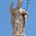Spire of St. Oronzo. Ostuni. Puglia. Italy. — Stock Photo