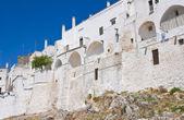 Fortified walls. Ostuni. Puglia. Italy. — Stock Photo