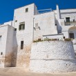 Fortified walls. Ostuni. Puglia. Italy. — Stock Photo